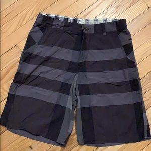 Lululemon Black and gray striped ABC short
